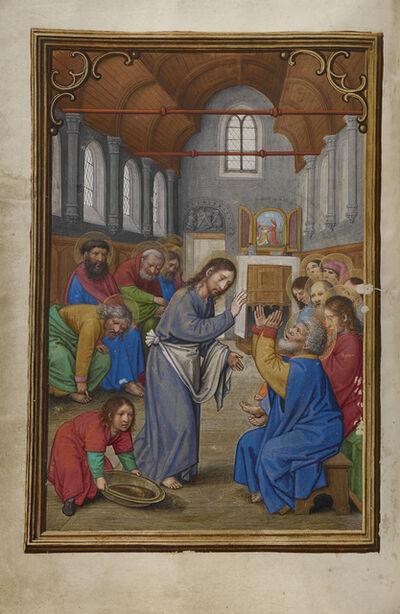 Simon Bening, 'Christ Washing the Apostles' Feet', 1525-1530