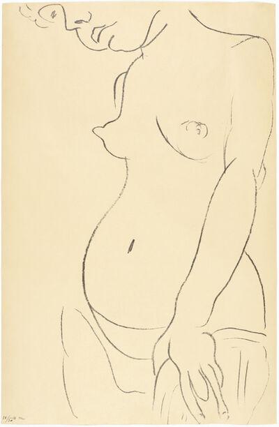 Henri Matisse, 'Nu de trois-quarts, une partie de la tête coupée', 1913