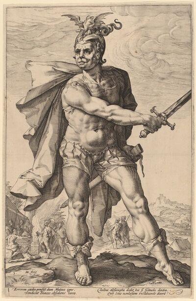 Hendrik Goltzius, 'Mucius Scaevola', probably 1586