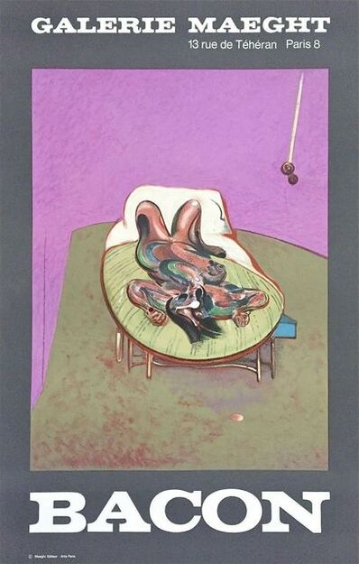 Francis Bacon, 'Personnage Couche 1966 Galerie Maeght Exhibition Poster', 1966