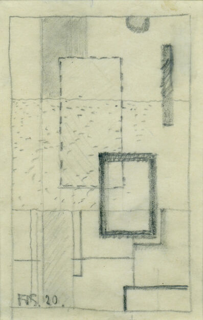 Friedrich Vordemberge-Gildewart, 'Etüde (D10)', 1920