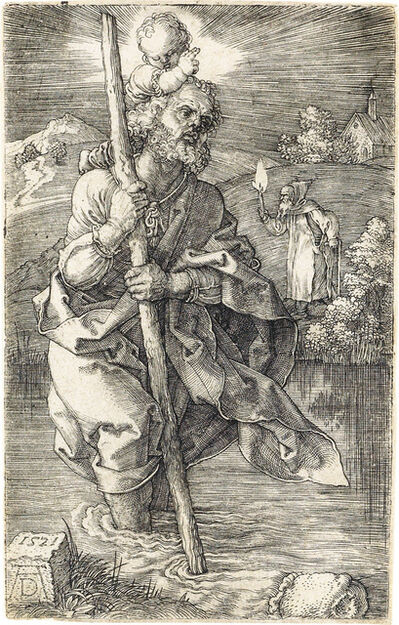 Albrecht Dürer, 'St. Christopher Facing Right', 1521