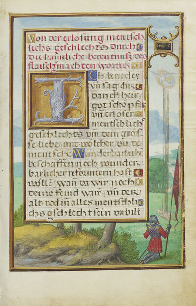 Simon Bening, 'Border with a Scene from the Life of Gideon', 1525-1530