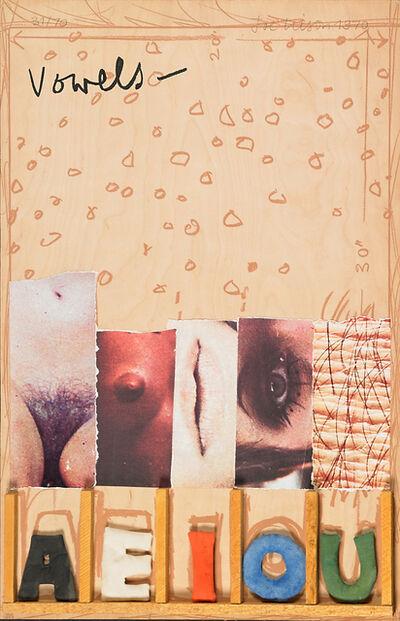 Joe Tilson, 'Vowels', 1970