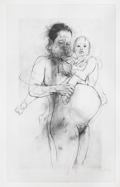 Jenny Saville, 'Reproduction drawing II (after the Leonardo cartoon)', 2009-2010