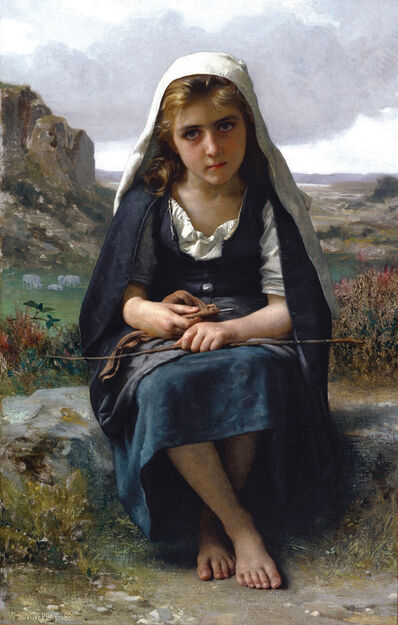 William-Adolphe Bouguereau, 'Gardeuse de moutons (The Shepherdess)', 1881