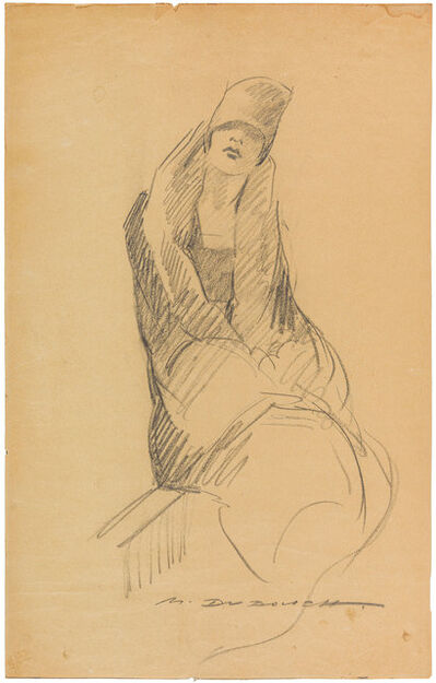 Marcello Dudovich, 'A woman with coat and hat', 1920s