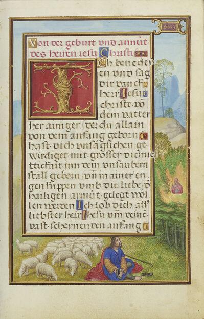 Simon Bening, 'Border with Moses and the Burning Bush', 1525-1530
