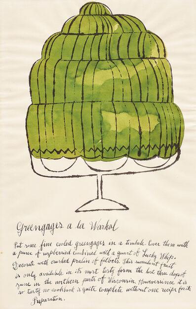 Andy Warhol, 'Greengages a la Warhol, from Wild Raspberries', 1959