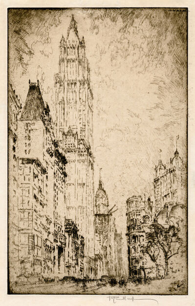 Joseph Pennell, 'The Woolworth Building', 1915