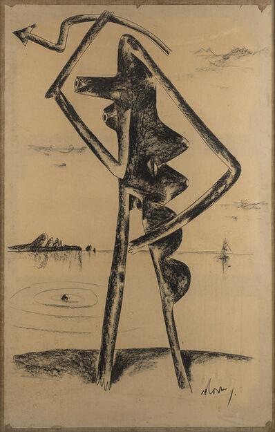 Gianni Dova, 'Senza titolo (figura)', fine anni '50 -inizio anni '60