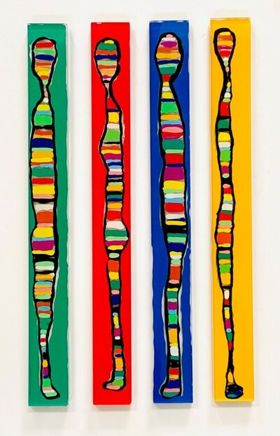 Susi Kramer, 'Jardin Magique (Green or Red or Blue or Yellow- a choice of 4 pieces )', 2020