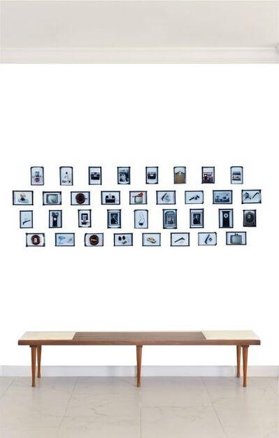 Paloma Castello, ' CASTELLOLAND 34 photographs framed in one of a kind hand carved black  frame    ', 2015