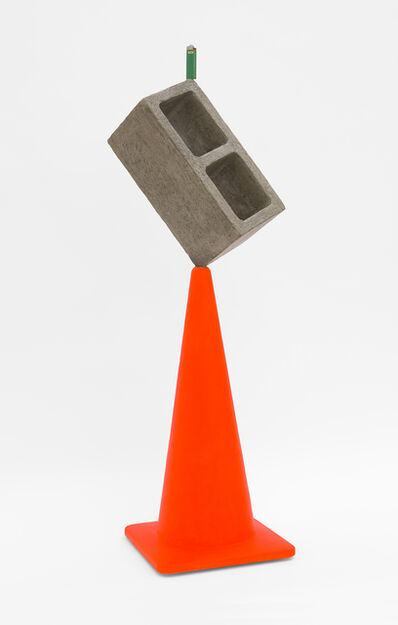 Matt Johnson, 'Traffic cone with a block and a lighter', 2019