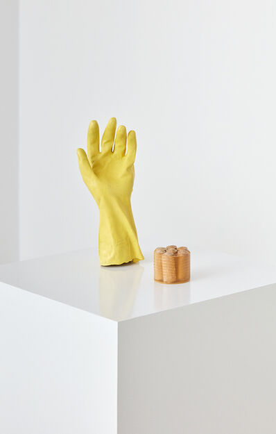 Bettina Hubby, 'glove and sausages', 2015
