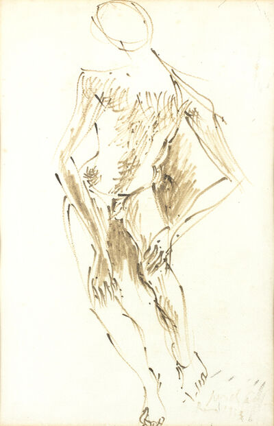 Pericle Fazzini, 'Figure of a man', 1953