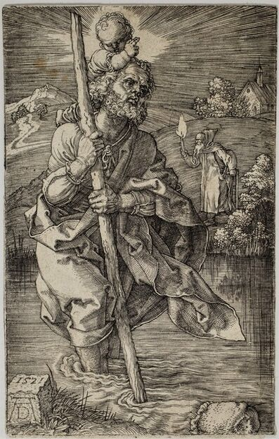 Albrecht Dürer, 'Saint Christopher facing right', 1521