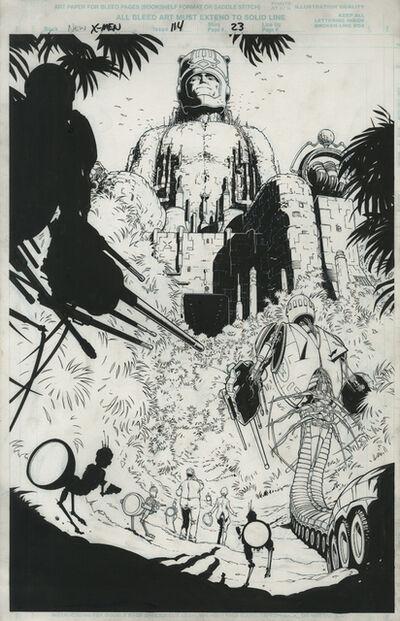 Frank Quitely, 'NEW X MEN (2001) #114, pg 23 E is for Extinction (Sentinel Revealed)', 2001
