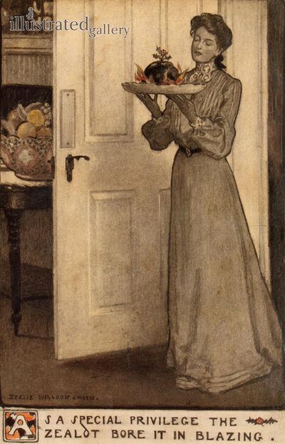 JESSIE WILLCOX SMITH, 'Boy Playing Dress-Up, story illustration'