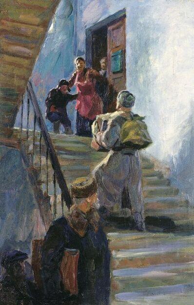 Valery Borisovich Skuridin, 'Back from the front', 1950