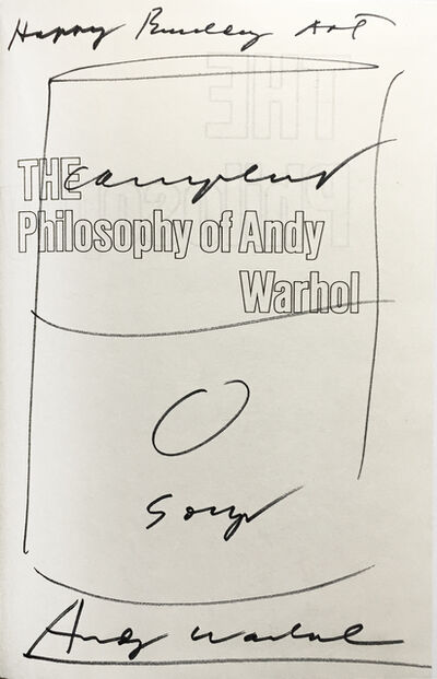 "Andy Warhol, 'Campbell's Soup Can Drawing in ""The Philosophy of Andy Warhol""', 1975"