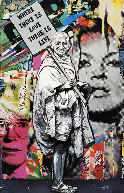 Mr. Brainwash, ''Gandhi: Where There is Love, There is Life'', 2010