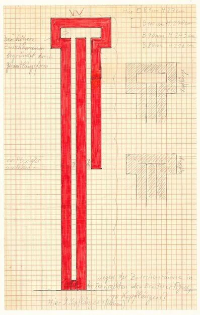 Joannis Avramidis, 'Orthogonale Bandfigur, Entwurf', 1970