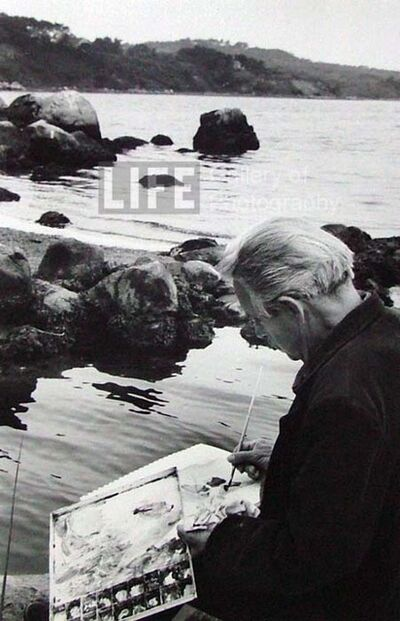 Alfred Eisenstaedt, 'Thomas Hart Benton Painting by the Shore in Martha's Vineyard', 1938