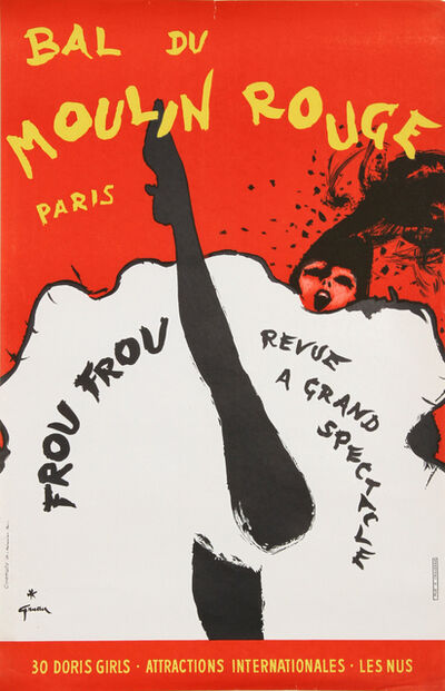 René Gruau, 'Bal du Moulin Rouge, Paris', Mid 20th Century