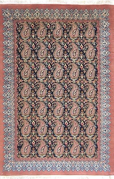 Rug, 'Persian Hand Knotted All Over Paisley Floral Qum Rug', 2000