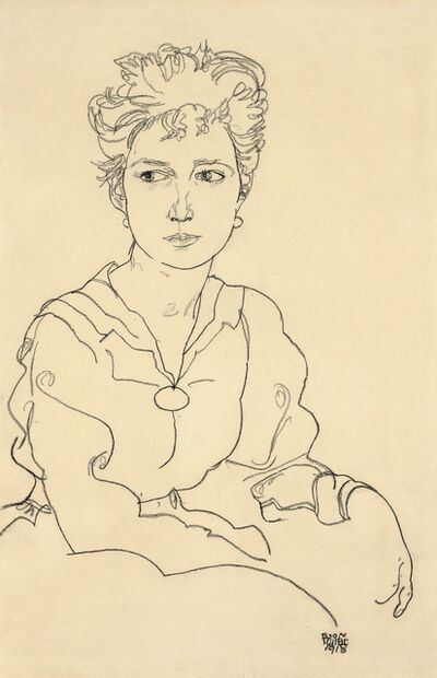 Egon Schiele, 'Young Woman Seated', 1918