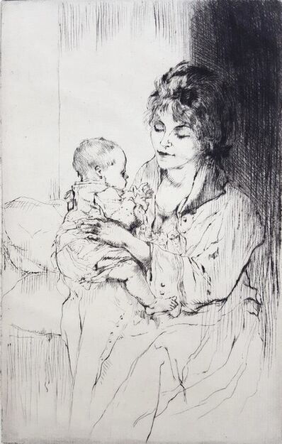 Auguste Brouet, 'Young Mother (Tiny Little Hands)', ca. 1920