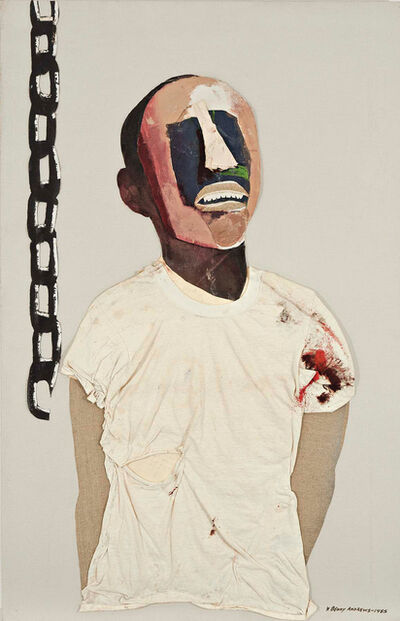 Benny Andrews, 'Study for Portrait of Oppression (Homage to Black South Africans)', 1985