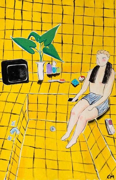 Claire Milbrath, 'Yellow Bathroom ', 2019