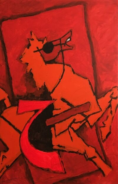 M. F. Husain, 'Untitled (Red Horse)', Unknown