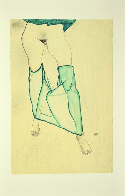 Egon Schiele, 'Standing Female Nude from the Waist Down', 2007