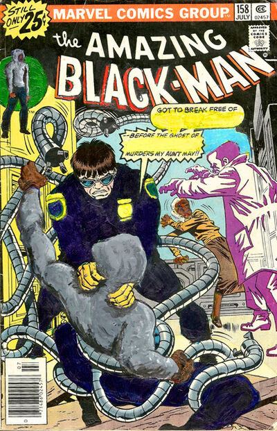 Kusami J. Barnett, 'The Amazing Black-Man #158 Got to break free of This Cop—', 2015