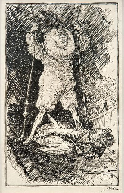 Alfred Kubin, 'On the trapeze', 1918