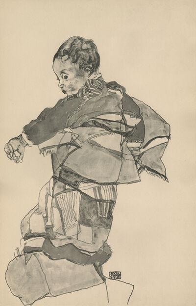 """Egon Schiele, '""""Portrait of a Child"""", Zeichnungen (plate X)', 1917"""