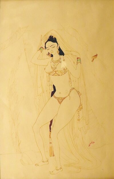 Abdur Rahman Chughtai, 'Jahanara at the Taj', ca. 1950