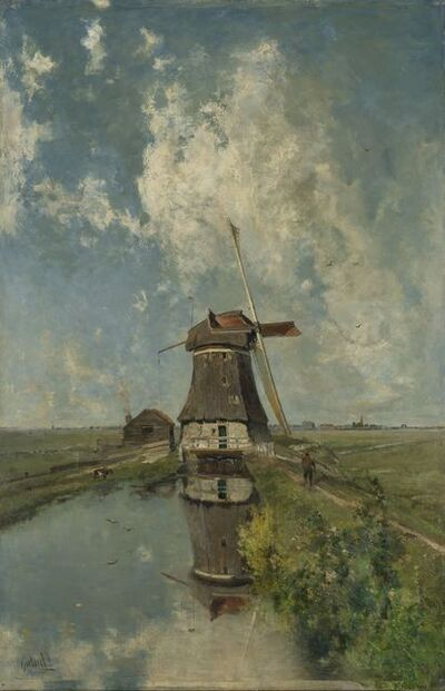 Paul Joseph Constantin Gabriel, 'A Windmill on a Polder Waterway, known as 'In the Month of July'', ca. 1889