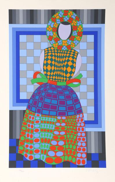 Victor Vasarely, 'Fille Fleur', ca. 1980