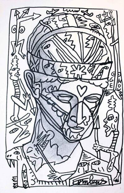 Robert Combas, 'CORONA PENSÉE SOUVENIR', 2020