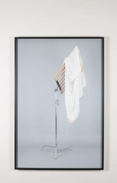 "Adrian S. Bara, '""Untitled (c-stand, muslin 4x4, bandera 4x4)""', 2015"