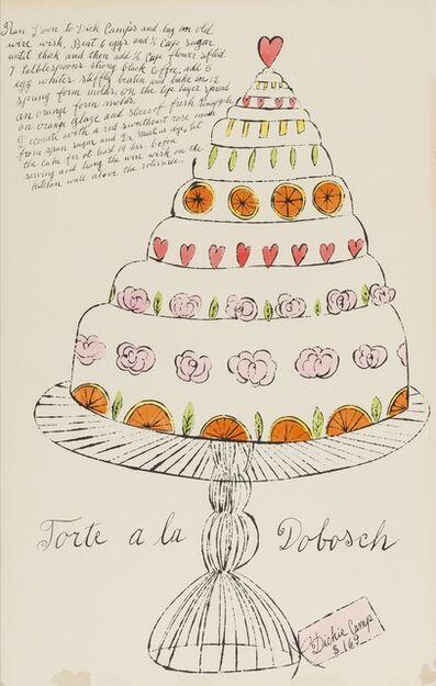 Andy Warhol, 'Torte a La Dobosch (from Wild Raspberries) (see Feldman & Schellmann IV.130.A)', 1959