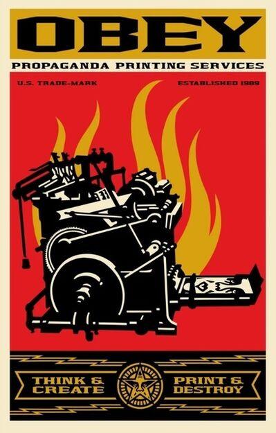 Shepard Fairey, 'Print And Destroy', 2019