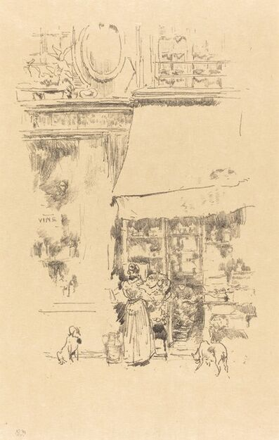 James Abbott McNeill Whistler, 'La Fruitiere de la Rue de Grenelle', 1894