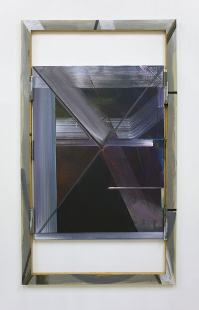 Philomene Pirecki, 'Grey Painting: Text Version 55 (framed by text version 4, 2008)', 2015