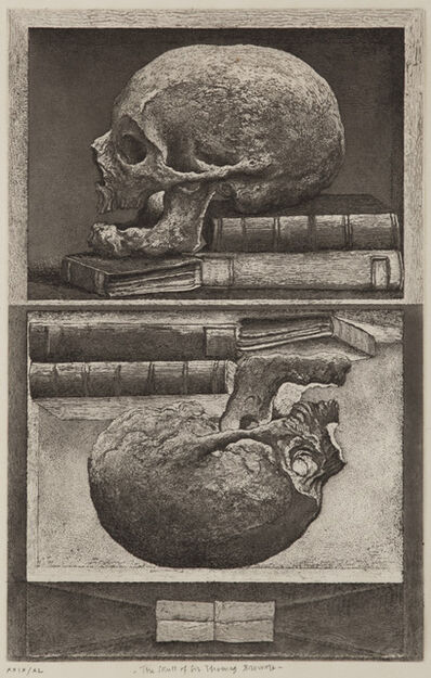 Erik Desmazières, 'The Skull of Sir Thomas Browne', 2010