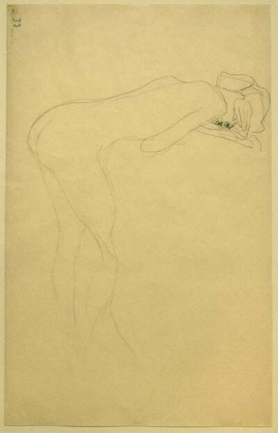 Gustav Klimt, 'Nude of Woman Reclined On the Back of a Chair on the Right', ca. 1905